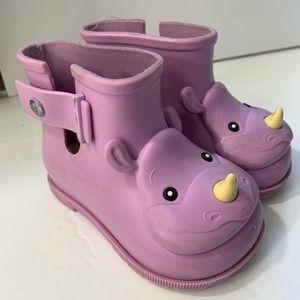 Mini Melissa toddler 6 purple Rhino rain boots